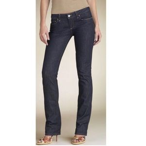 PAIGE Blue Heights Straight Fit Jeans